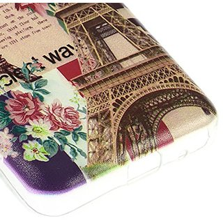 JUJEO Paris Eiffel Tower and Retro Car TPU Case for Samsung Galaxy Core 2 G355H - Non-Retail Packaging - Multi