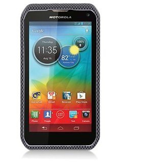 Aimo MOTXT897PCIM006 Durable Hard Snap-On Case for Motorola Photon Q XT897 - 1 Pack - Retail Packaging - Carbon Fiber