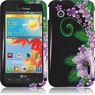 HR Wireless LG Enact/VS890 Design Protective Cover - Retail Packaging - Green Flower