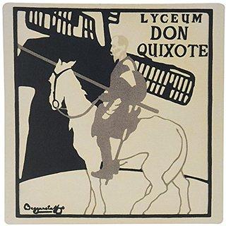 3dRose LLC 8 x 8 x 0.25 Inches Mouse Pad, Vintage Don Quixote Man on Horse Art (mp_99418_1)