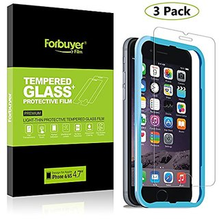iPhone 6 Tempered Glass Screen Protector, Forbuyer Phone Glass for iPhone 6 Screen Protector 4.7 inch with Easy Installa