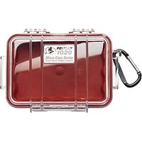 Pelican 1020 Micro Case, Red With Clear Lid