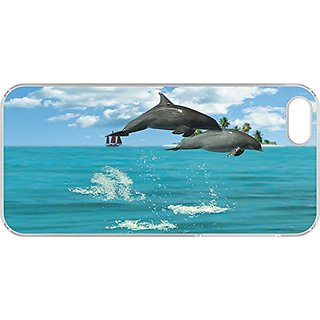 Gift Trenz Kangaroo Lab Motion Dolphins iPhone 4/4s Case - Retail Packaging - Multicolor