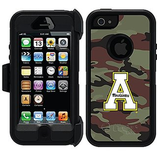 Coveroo Defender Series Black Case for iPhone 5/5s - Retail Packaging - Appalachian State Traditional Camo