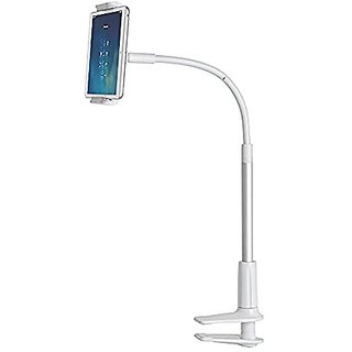 Best Quality Gooseneck Phone Holder, Flexible iPad Mini Stand: Mingo LP-6 White 360 Degree Rotating Bolt Clamp Stand, Ta