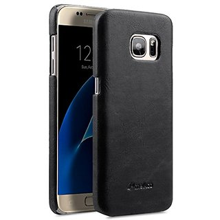 Melkco Snap Cover Case Mini PU Leather For Samsung Galaxy S7 (Classic Vintage Black PU)