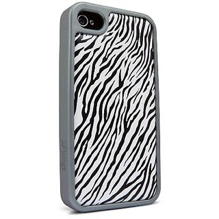 iFrogz IP4V-ZBCR Valence Case for iPhone 4/4S - 1 Pack - Retail Packaging - Zebra/Crockodile