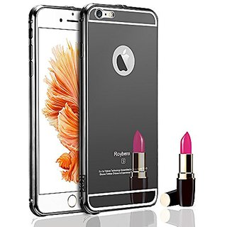 For Apple iPhone 6s Plus Case, Roybens Luxury Air Aluminum Metal Bumper Detachable + Mirror Hard Back Case, 2 in 1 cover