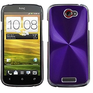 MYBAT HTCONESHPCBKCO006NP Premium Metallic Cosmo Case for HTC One S - 1 Pack - Retail Packaging - Purple