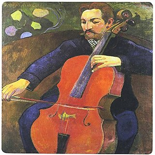 3dRose Upaupa Schneklud Paul Gauguin, Man Playing A Cello Mouse Pad (mp_171444_1)