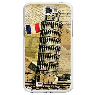 Cellet Proguard Case with Leaning Tower for Samsung Galaxy Note 2 - White