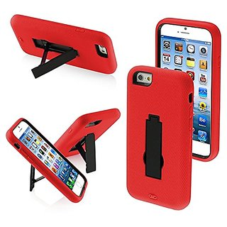 Asmyna Symbiosis Stand Protector Cover for iPhone 6 - Retail Packaging - Red/Black