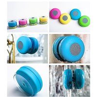 Portable Waterproof Bluetooth Speaker With Suction Cup Mic