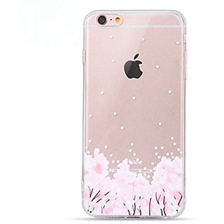 iPhone 6s Plus Case, Geekmart Clear Soft Floral Silicone Back Cover for 5.5 inches iPhone 6 Plus/iPhone 6s Plus
