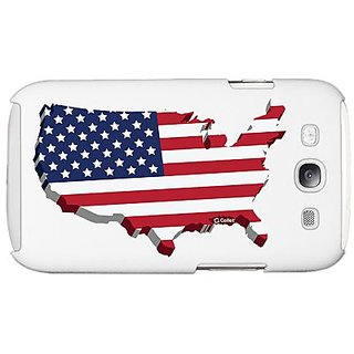 Cellet Proguard Case with American Flag for Samsung Galaxy S III - White