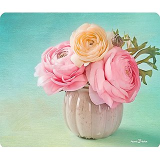 Vintage Vase With Flowers Mousepad by Atomic Market