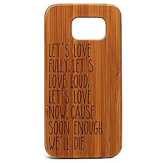 Krezy Case Real wood Samsung Galaxy S6 Case, Quote Samsung Galaxy S6 Case, Wood Galaxy S6 cool Case