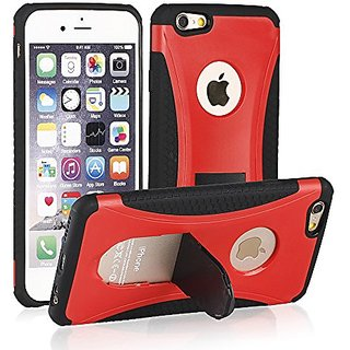 iPhone 6S Plus Case,Ultra Slim Dual Layer Hybrid Case Protective Armor Defender Case With Kickstand For iPhone 6 Plus/iP