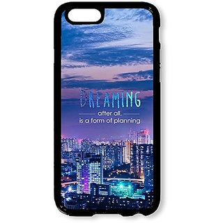 iPhone 6 Case AOFFLY® City At Night Dreaming Black Hard Case for Apple iPhone 6 4.7Inch
