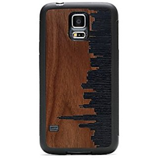 CARVED Chicago Skyline Inlay Galaxy S5 Traveler Case - Retail Packaging - Wood