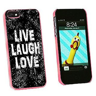 Graphics and More Live Laugh Love Distressed Inspirational Snap-On Hard Protective Case for iPhone 5/5s - Non-Retail Pac