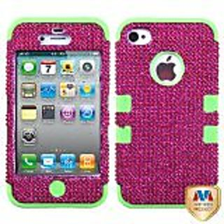 MYBAT IPHONE4AVHPCTUFFDMS015NP Premium TUFF Diamante Case for iPhone 4 - 1 Pack - Retail Packaging - Hot Pink Diamante/E