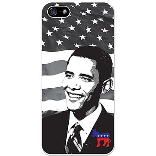 Cellet Proguard Case with Barack Obama for Apple iPhone 5 - White