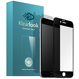 Klearlook Edge-to-Edge Full Coverage Anti-Glare Tempered Glass Screen Protector+ Matt Back Film for Apple Iphone 6 Plus/