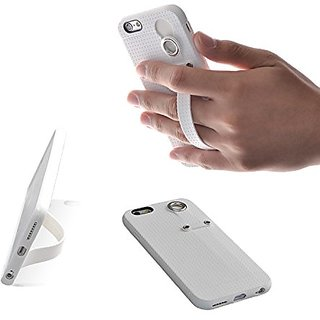 TFY Case Cover with Hand Strap Holder Stand for iPhone 6 (S) (White)