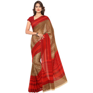 Anand Sarees Faux Georgette Multi Colored Printed Saree With Blouse Piece