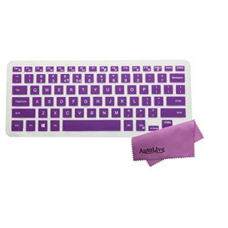 AutoLive Translucent Purple Ultra Thin Silicone Keyboard Skin Protector Cover for Dell Inspiron 14C 14MR 14MD 14M series