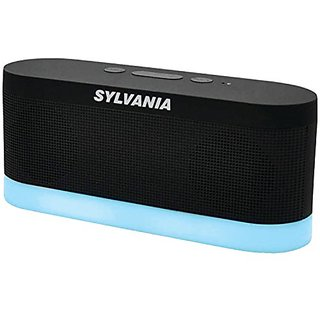 Sylvania SP136-black Bluetooth Moonlight Speaker with 7-Color Changing LED Lights (Black)
