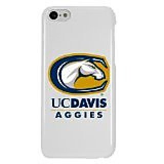 NCAA UC Davis Aggies Case for iPhone 5C, White, One Size