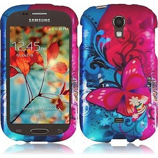 HR Wireless Samsung Galaxy Light/T399 Design Protective Cover - Retail Packaging - Butterfly Bliss
