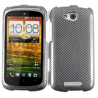 Cell Armor Snap-On Case for HTC One VX - Retail Packaging - Carbon Fiber