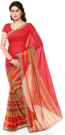 Meia Multicolor Georgette Printed Saree With Blouse
