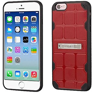 MyBat Cell Phone Case for Apple iPhone 6/6s - Retail Packaging - Black/Red