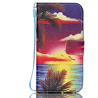 Samsung Galaxy S6 Edge G9250 Case with Wallet Function / Stand / Short Lanyard / Credit Card Holder / Magnetic Snap Fron