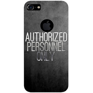 GripIt Authorized Personnel Only Printed Case for Apple iPhone 7