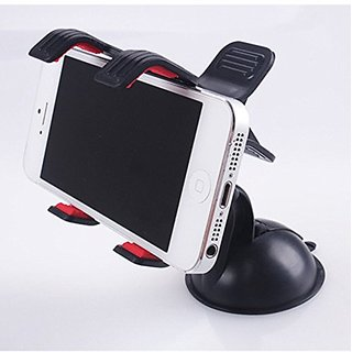Chihiro 360 Flexible Car Auto Windshield Dual Clip Mount Holder Stand Bracket for iPhone 4 5S 5C 6 6S Plus Samsung Galax