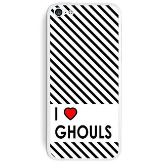 Graphics and More I Love Heart Ghouls Protective Skin Sticker Case for Apple iPhone 5C - Set of 2 - Non-Retail Packaging