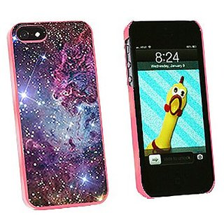 Graphics and More Fox Fur Nebula Galaxy Space Snap-On Hard Protective Case for iPhone 5/5s - Non-Retail Packaging - Pink
