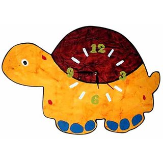 Purple Circle Orange Turtle Wall Clock