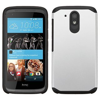 MyBat Carrying Case for HTC-L100 (Desire 526) - Retail Packaging - Silver/Black