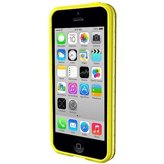 Qmadix S Series Bumper for Apple iPhone 5c - Retail Packaging - Yellow