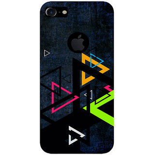 GripIt Colourful Triangles Printed Back Cover for Apple iPhone 7