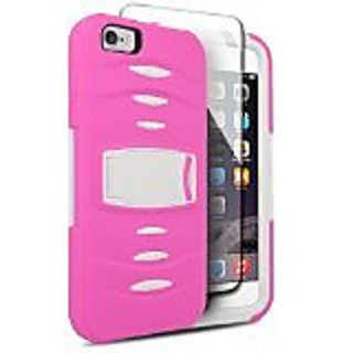 Eagle Cell Hybrid Armor Protective Case Stand/Built-In Screen Protector for Apple iPhone 6 Plus - Retail Packaging - ST8
