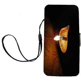 Rikki Knight Candle Glowing in Dark Flip Wallet iPhoneCase with Magnetic Flap for iPhone 5/5s