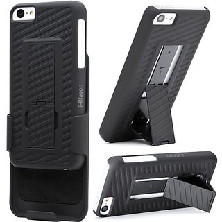 I-Blason Transformer Holster Case with Kickstand for iPhone 5C IPHN5C-TRANSFORMER-BLK