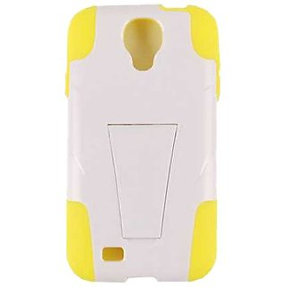 Cell Armor SAMGS4-PC-JELLY-03-YE-A017-BH Hybrid Jelly Skin Case for Samsung Galaxy S4 - Retail Packaging - Yellow/White
